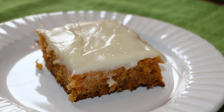 Frosted Pumpkin Spice Bars