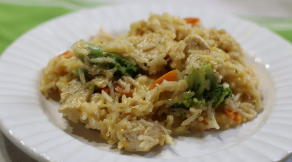 Cheesy Chicken Broccoli Rice Skillet  Eat Farm Love-4406
